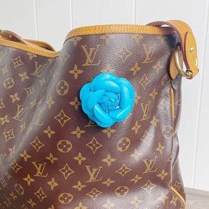 Camellia Flower Vegan Leather Magnetic Bag Charm